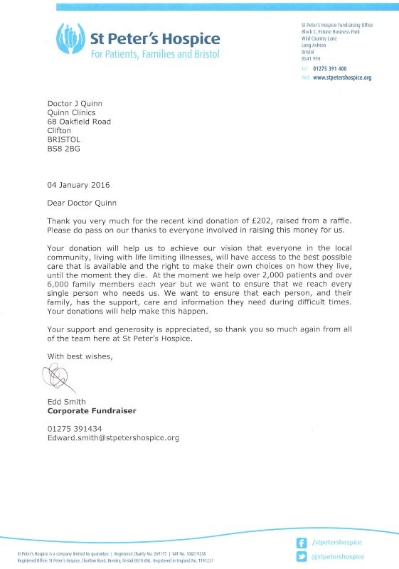 st peters hospice letter